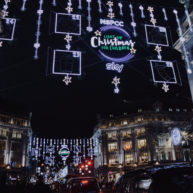 """Oxford Street Christmas lights pt 1"" stock image"