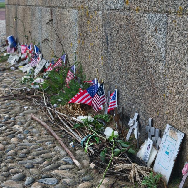 """Omaha Beach memorial"" stock image"