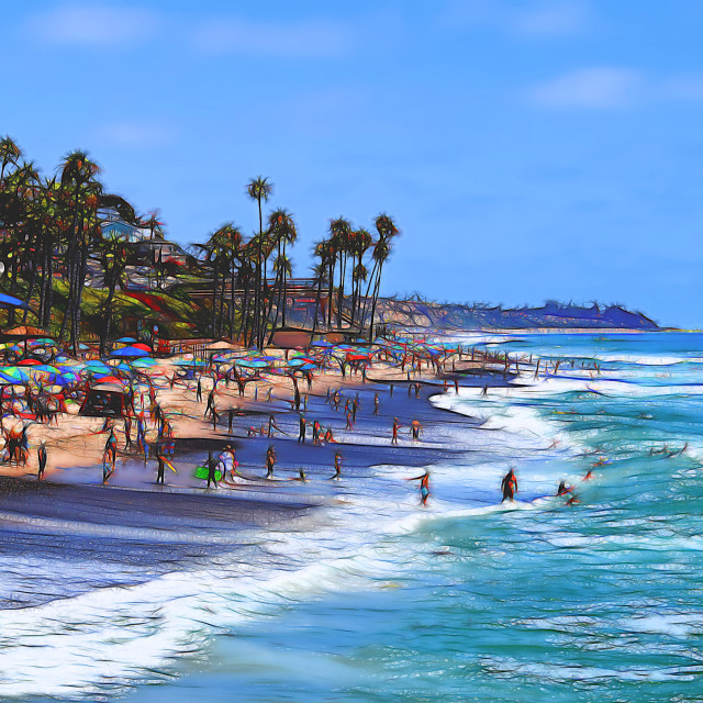 """San Clemente Beach"" stock image"