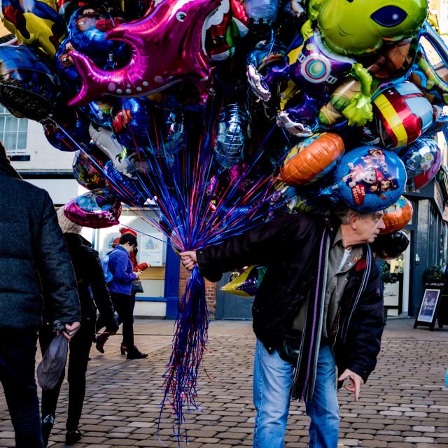 """""""Balloon seller"""" stock image"""