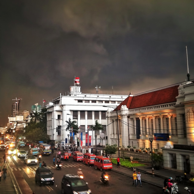 """Dawn at Jakarta"" stock image"