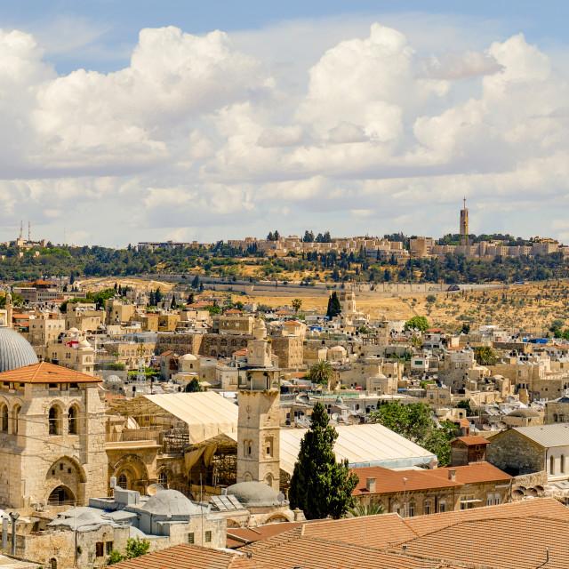 """Jerusalem Panorama from Citadel"" stock image"