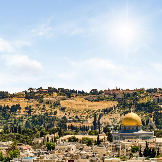 """Panorama Shot From Jerusalem Fortress"" stock image"
