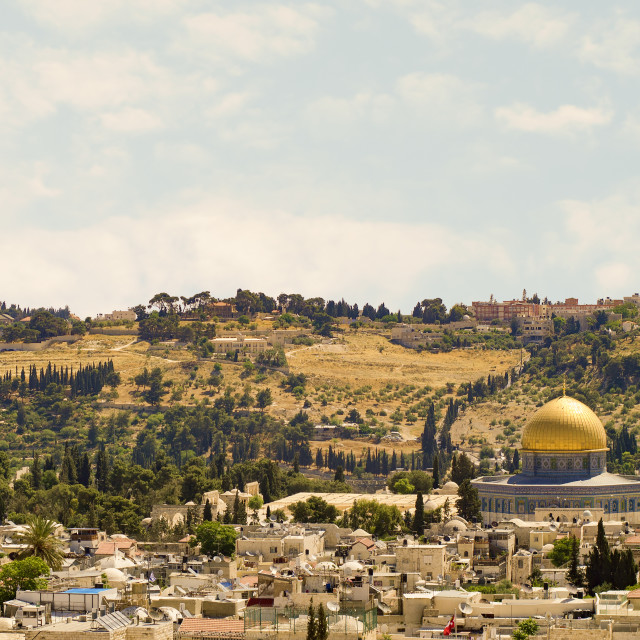 """Temple Mount Panorama"" stock image"