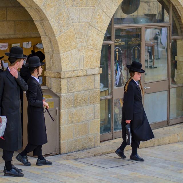 """Young Orthodox Jews"" stock image"