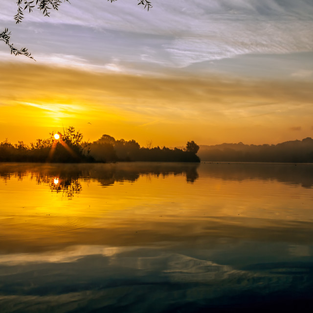 """Whitlingham Sunrise"" stock image"