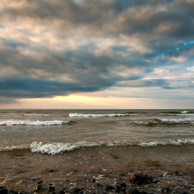 """""""Cromer Beach"""" stock image"""