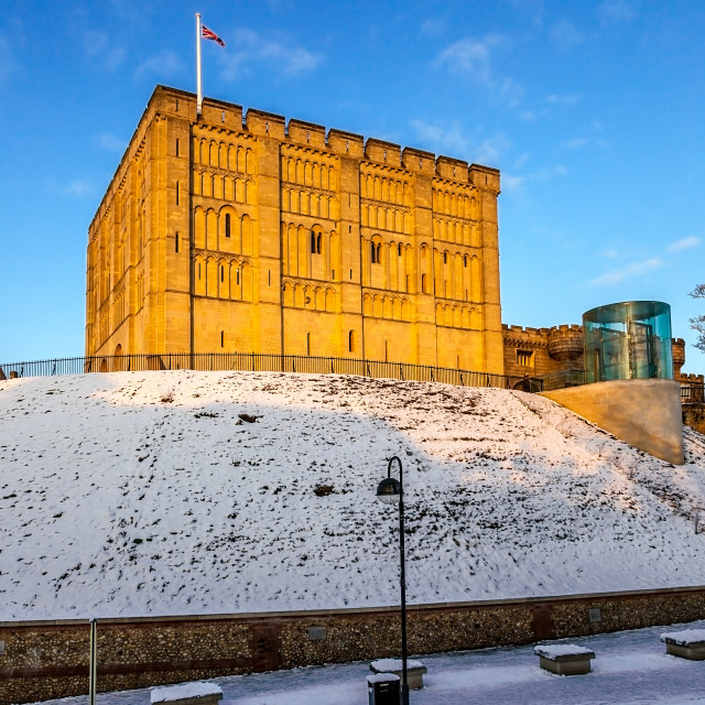 """""""Snow on Castle Hill"""" stock image"""