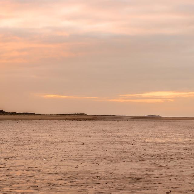 """Holkham Beach Panarama"" stock image"