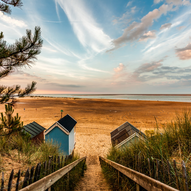"""""""Steps to the Beach"""" stock image"""