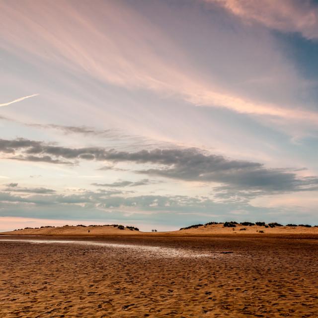 """Dunes on Wells Beach"" stock image"