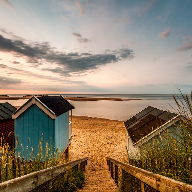 """""""Steps to the Sea"""" stock image"""