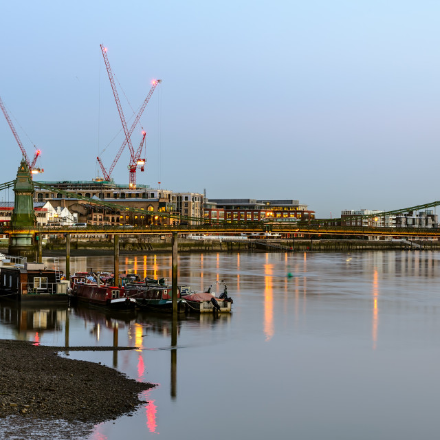 """""""River Thames at Twilight"""" stock image"""