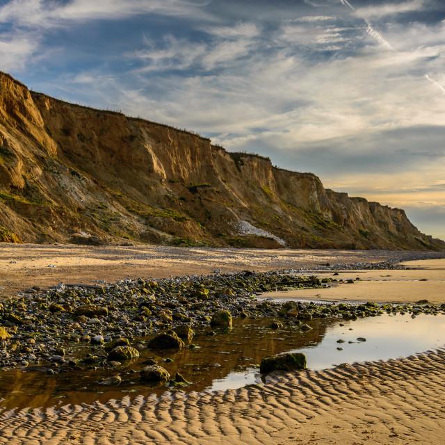 """""""North Norfolk Cliffs"""" stock image"""