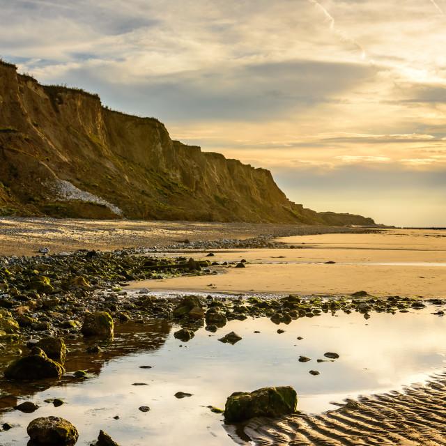 """""""Sunset North Norfolk Coast"""" stock image"""