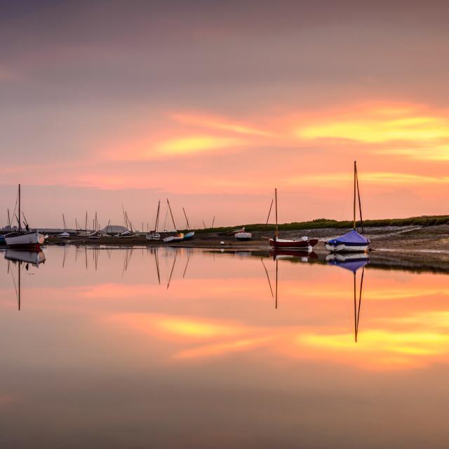 """Burnham Overy Staithe Sunset"" stock image"