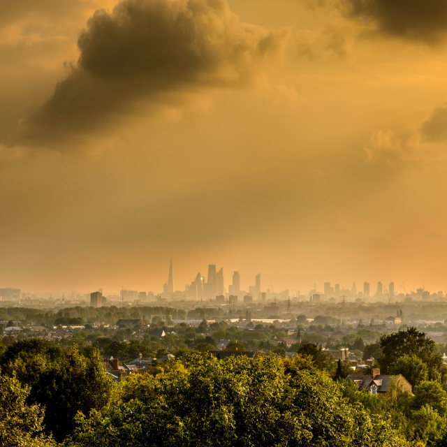 """London Autumn Light Panoramic"" stock image"