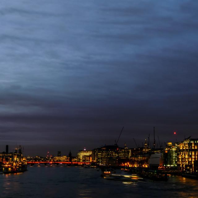 """London Nightscape"" stock image"