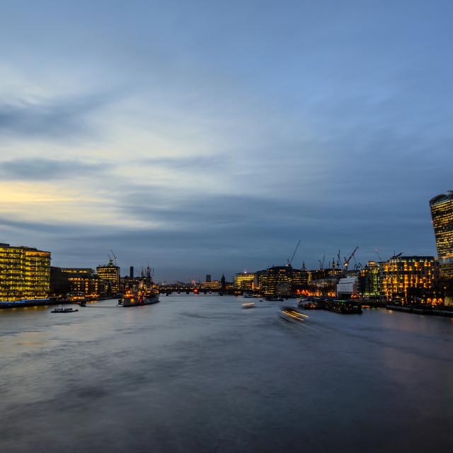 """London at Twilight"" stock image"