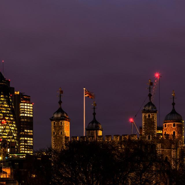 """London Night"" stock image"