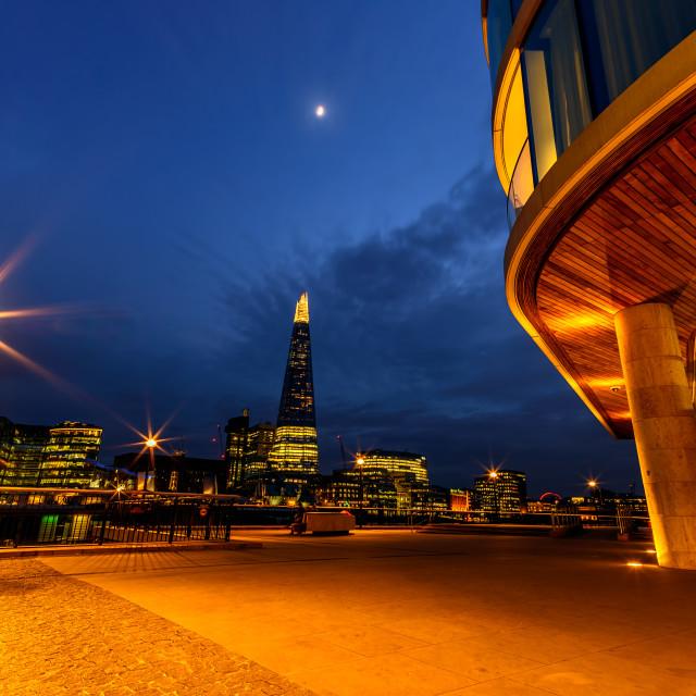 """London Night Scene"" stock image"