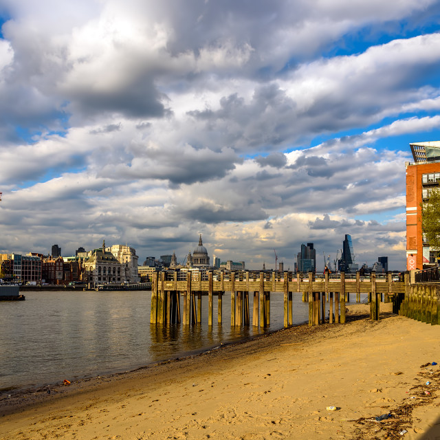 """""""London at Low Tide"""" stock image"""