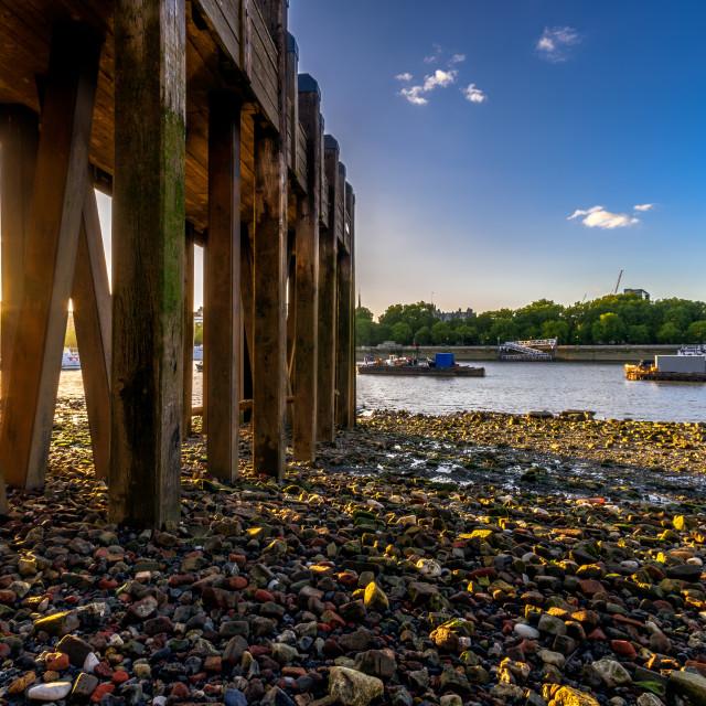 """Thames Pier"" stock image"