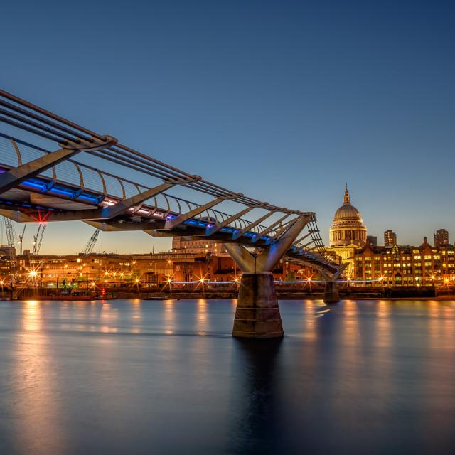 """""""Twilight Millenium Bridge"""" stock image"""