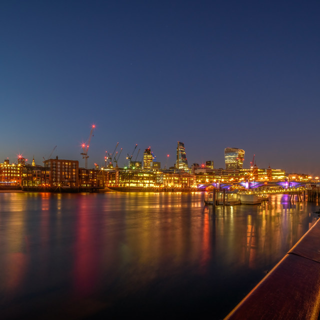 """City Lights London"" stock image"