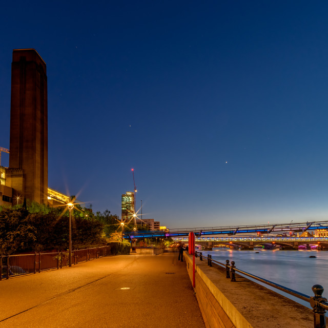 """The Tate at Night"" stock image"