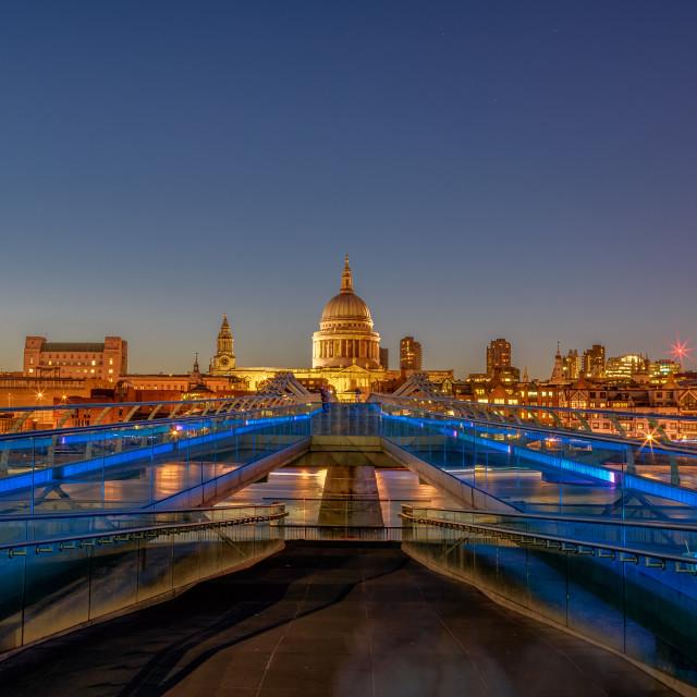 """""""Londons Millenium Bridge"""" stock image"""