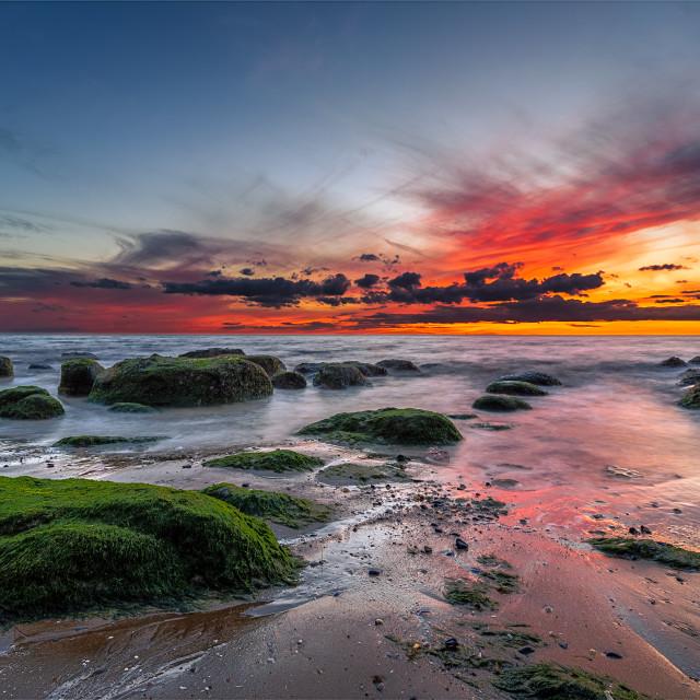 """Hunstanton Sunset"" stock image"