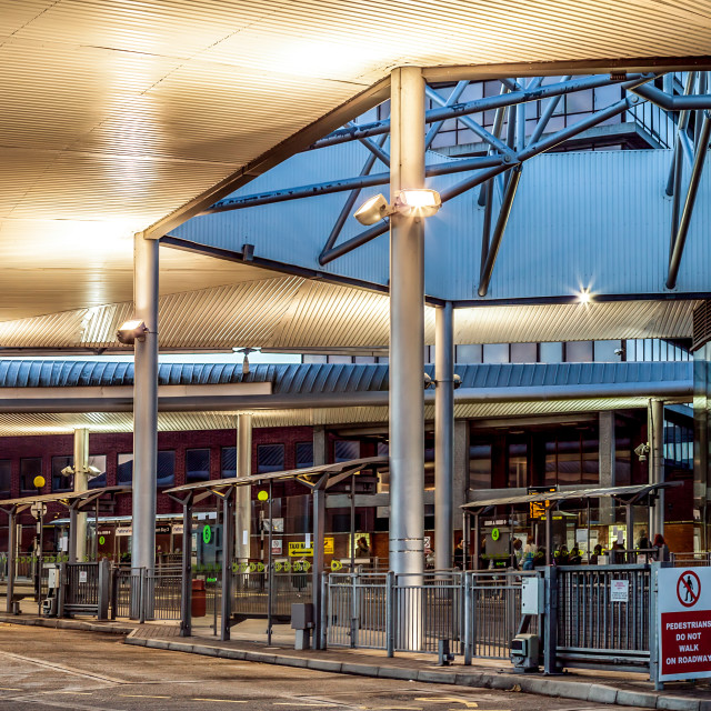 """""""Norwich Bus Station"""" stock image"""