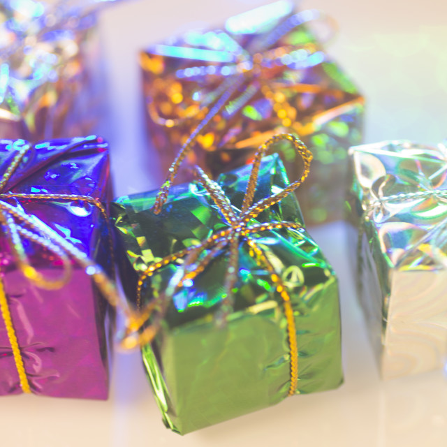 """Christmas party celebration presents"" stock image"