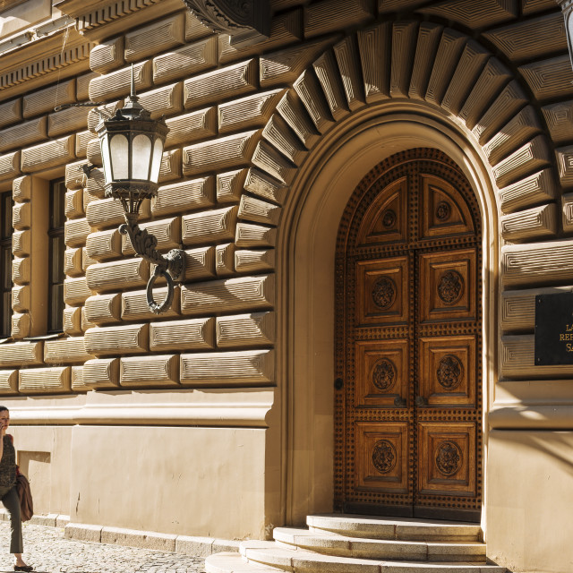 """Exterior of Latvian Parliament Building, Riga, Latvia, Baltic States, Europe"" stock image"