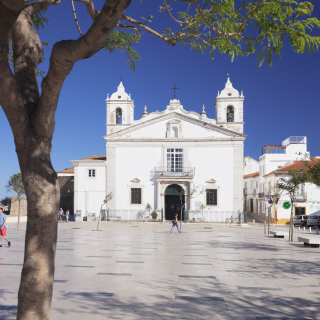 """Santa Maria church, Lagos, Algarve, Portugal"" stock image"