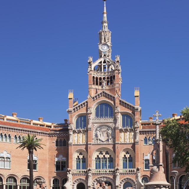 """""""Hospital de la Santa Creu i Sant Pau, Lluis Domenech i Montaner, UNESCO World..."""" stock image"""
