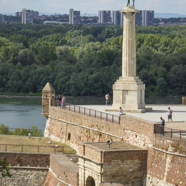 """Victor column, Kalemegdan Fortress, Belgrade, Serbia"" stock image"