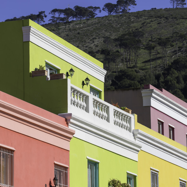 """""""Colourful houses in Bo Kaap, Cape Town, Western Cape, South Africa"""" stock image"""