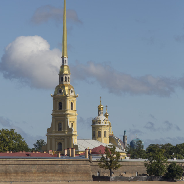 """""""Peter and Paul Fortress, St Petersburg, UNESCO World Heritage Site, Russia"""" stock image"""