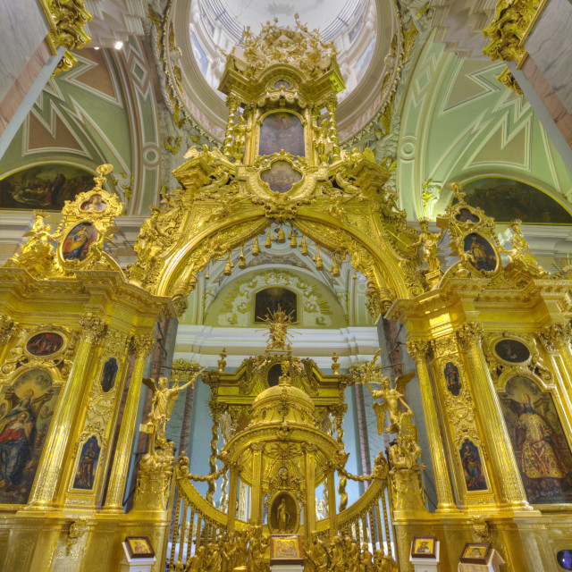 """""""SS Peter and Paul Cathedral, St Petersburg, UNESCO World Heritage Site, Russia"""" stock image"""