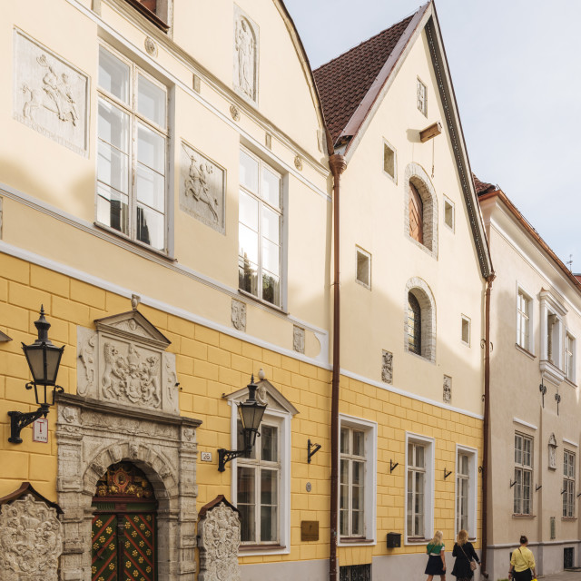"""House of the Brotherhood of Black Heads, Old Town, Tallinn, Estonia, Europe"" stock image"