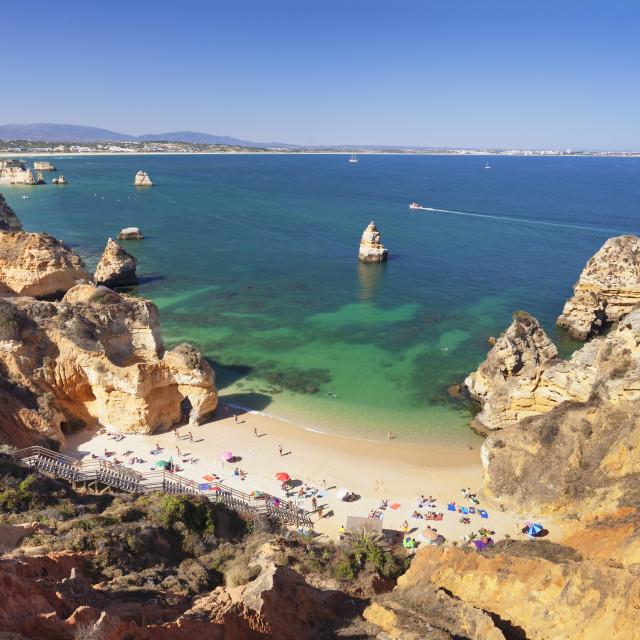 """""""Praia do Camilio beach, Atlantic ocean, near Lagos, Algarve, Portugal"""" stock image"""
