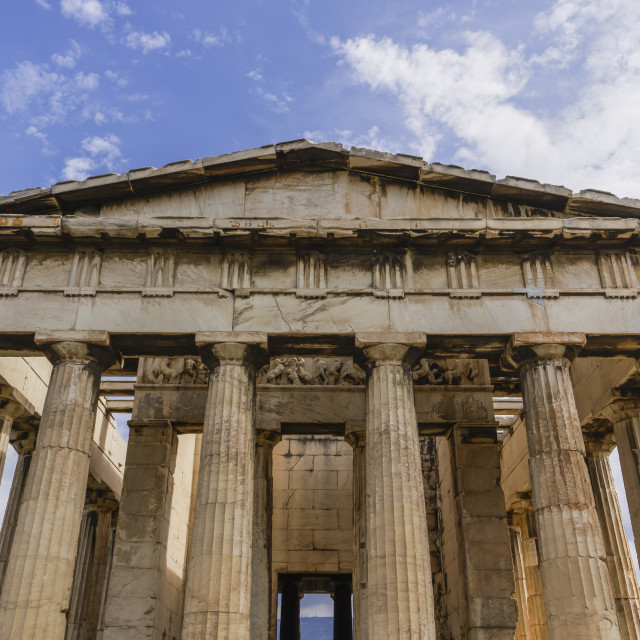 """""""Athens, Greece day view of Temple of Hephaestus at the Ancient Agora of Athens."""" stock image"""