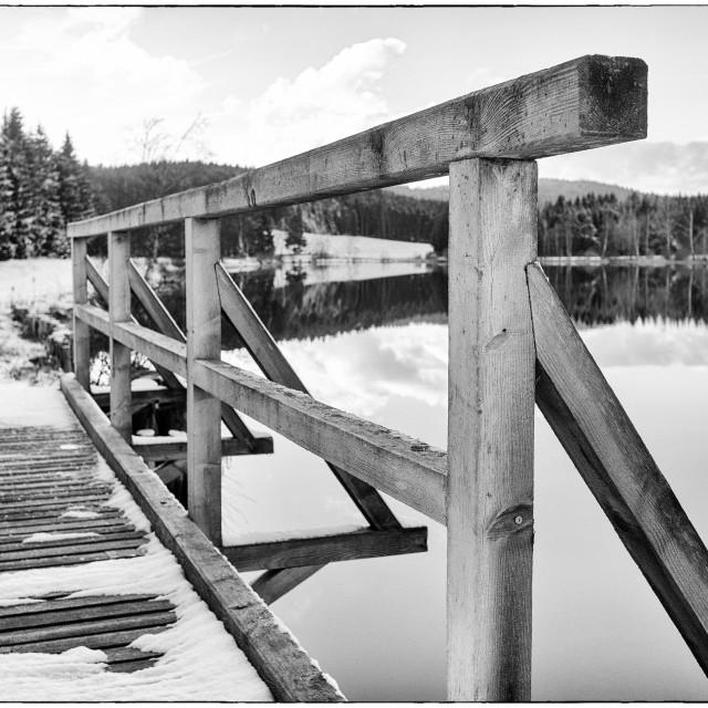 """""""Wooden footbridge"""" stock image"""