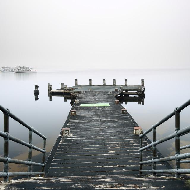 """""""Tarbet Pier Loch Lomond"""" stock image"""