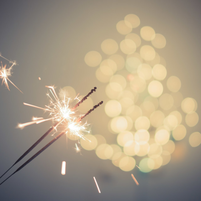 """Festive sparkles"" stock image"