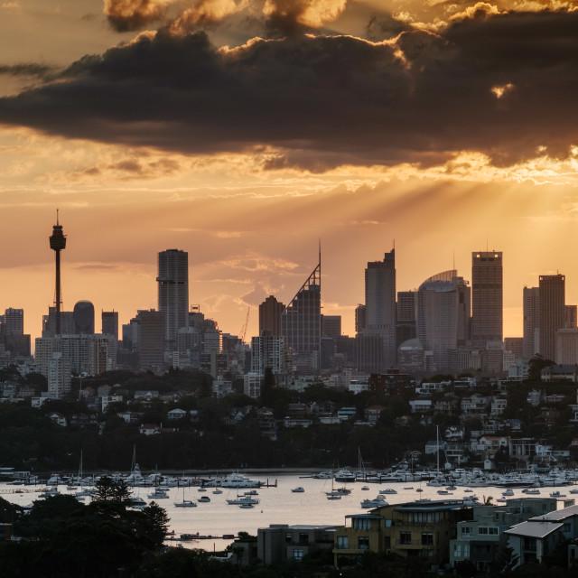 """Sydney Skyline"" stock image"