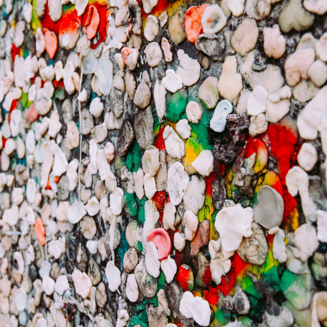 """Wall of chewing gum"" stock image"