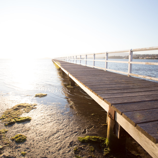 """Endless boardwalk"" stock image"
